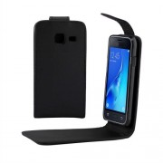 For Samsung Galaxy J1 Mini / J105 Plain Texture Vertical Flip Leather Case with Magnetic Buckle(Black)
