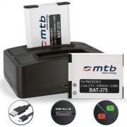 2 Batteries + Double Chargeur (USB) pour DMW-BCM13 / Panasonic Lumix DMC-FT5, LZ40, TS5, TS6 / DMC-TZ37, TZ40, TZ41, TZ55, TZ56, TZ58, TZ60, TZ61, TZ70, TZ71 / DMC-ZS30, ZS35, ZS40, ZS45, ZS50, ZS60, ZS100
