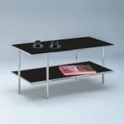 D-TEC U.F.O 94 Tisch L:900 B:450 H:450 mm, edelstahl matt geschliffen/schwarz satinato 481-es