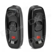 DIY Water Resistant In-Line On/Off Cord Switch - Black (2-Piece Pack)