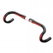 3T Ergoterra Team Carbon Handlebar - Black/Red - 42/45cm