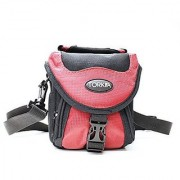 Torkia Fitted Case for Canon PowerShot SX400 IS and SX410 IS Digital Camera (Red)