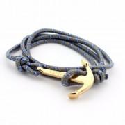 Szürke színű horgonyos karkötő