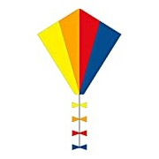 Invento 102100 Ecoline Eddy Spectrum Kite For Children Age 5 50 x 45 cm/2.5 m Dragon Tail Line Ripstop Polyester 2-5 Beaufort