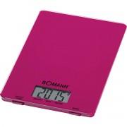 Bomann KW 1515 - Báscula de cocina digital, 5 kg, pasos 1 g, función tara, color morada