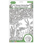Living In Color Art Therapy Coloring Pages 11.8in x 8.2in 6 Designs Single pages to easily frame your masterpiece Safari