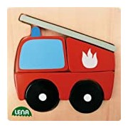 Lena 32081 - Wooden Puzzle Fire Engine
