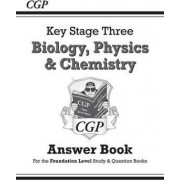 KS3 Science Answers for Study & Question Books (Biology/Chemistry/Physics) - Foundation by CGP Books