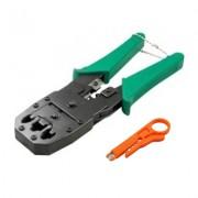 Cleste pentru sertizat cablu LanKATT Cleste de Sertizat Semi-Profesional 4P/6P/8P + Stripper