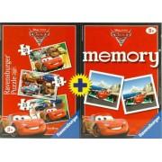 Memory Ravensburger Cars Puzzle 15+20+25 + Memory de Disney