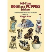 Old-Time Dogs and Puppies Stickers by Maggie Kate