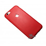 "Husa TIP SILICON IPHONE 7 PLUS ""Forbidden Apple"" MAT LOGO DECUPAT RED"
