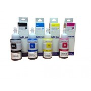 EPSON ink bottal Set 4 color Black, Cyan, Yellow, Magenta (80ml) FOR L100 / L110 / L130 / L200 / L210 / L220 / L300 / L310 / L350 / L355 / L360 / L365 / L455 / L550 / L555 / L565 / L1300 (COMPATIBLE)
