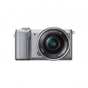 Aparat foto Mirrorless Sony A5000 argintiu + Obiectiv E SEL 16-50mm f/3.5-5.6 PZ OSS