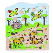 Hape Eco Toys / Wooden Knob Puzzle Jungle Animals
