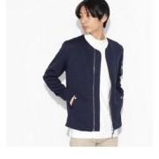 MA-1ジャージ【ティーケー タケオキクチ/tk.TAKEO KIKUCHI メンズ カーディガン ネイビー(093) ルミネ LUMINE】