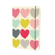 LONDON STATIONERY Designový zápisník A5 s barevnými srdíčky