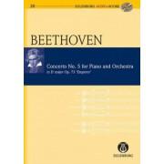 Piano Concerto No. 5 Emperor: Eulenburg+pocket Score AND Audio CD by Ludwig van Beethoven