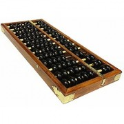 Wowlife Vintage-Style Chinese Wooden Abacus Chinese Lucky Calculator