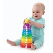 Toy / Game Fisher Price Brilliant Basics Stack & Roll Cups W/ 11 Textured Pieces To Stack, Roll, Nest & Explore