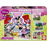 Educa - 15134 - Puzzle - Progressif Minnie - 12-16-20-25