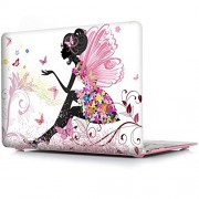 """Pretty ~Butterfly Girl case (Get 3 MacBooK SAViOUR Accessories FREE) for New MacBook Pro 13 inch 2016 release A1706 / A1708 Hard Shell Cover , Matte Frost Hard Shell Protective Case Cover for Newest Apple MacBook Pro 13"""" inch A1706 / A1708 (2016 Launched)"""