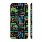 Enthopia Designer Hardshell Case New York To Las Vegas Back Cover for LG K10