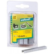 Wolfcraft 7026000 - 2000 grapas de lomo ancho, tipo 053 6 mm