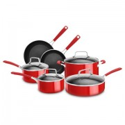 Conjunto de Penelas 6 Peças em Alumínio Vermelho - KitchenAid Conjunto de Panelas 6 Peças em Alumínio Vermelho - KitchenAid