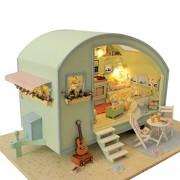Rylai Wooden Handmade Dollhouse Miniature DIY Kit - Time Travel Series Dollhouses & Furniture(NO Dus