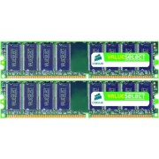 Memorii Corsair Value Select DDR2, 2x1GB, 667MHz
