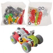 Magideal Creative Building Blocks Assembly Kit Screw Cartoon Car Kids Early Education