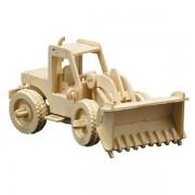 Puzzle eco 3D din lemn Buldozer Pebaro
