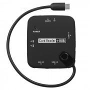 CY GT-037 Micro USB Hub SD / TF / MS / M2 Card Reader for Samsung Galaxy S2 i9100 / i9200 - Black
