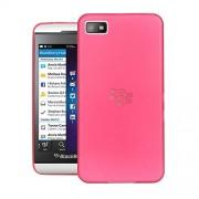 Quicksand Air skin Super Thin Matte Finish Anti Slip Back Case Cover for Blackberry Z10 Red