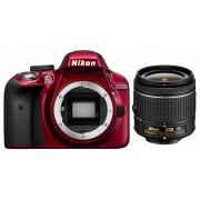 Nikon D3300 kit (AF-P 18-55mm VR) (roșu)