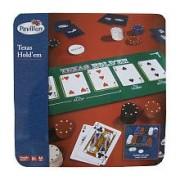 Pavilion TEXAS HOLD'EM is a variation of the standard card game of poker TIN GAME SET