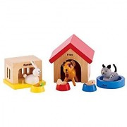 Hape- Family Pets - Wooden Dollhouse Animals