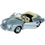 Welly Metalen porsche 356b cabriolet: 18 cm zilver