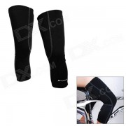NUCKILY KE001 Cycling Protective Polyester Warm Kneecap - Black (Size XL / Pair)