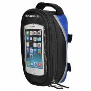Roswheel moda al aire libre Tube Top Belt Bag - Negro + Gris + Azul
