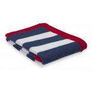 Paturica tricotata, 75 x 100 cm, albastru-rosu