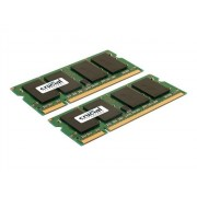 Crucial - DDR2 - 8 Go : 2 x 4 Go - SO DIMM 200 broches - 800 MHz / PC2-6400 - CL6 - 1.8 V - mémoire sans tampon - non ECC