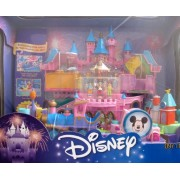 Disney Magical Miniatures MAGIC KINGDOM CASTLE Playset w MUSIC, Working TRAIN, 6 FIGURES & More! (20