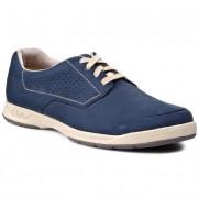 Обувки CLARKS - Stafford Plan 261087447 Navy Nubuc