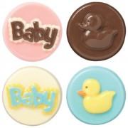 Cavità di stampo caramella-Baby 11 biscotto (4 disegni)