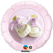 Baby Girl Shoes Foil Balloon