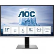 """AOC U3277pwqu 31.5"""" 4k Ultra Hd Lcd Nero, Argento Monitor Piatto Per Pc 4038986185783 U3277pwqu 10_0g30290"""