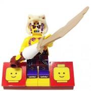 "Minifigure Packs: Lego Legends Of Ninjago Bundle ""(1) Ninjago Thug Sleven"" ""(1) Figure Display Base"" ""(1) Figure Accessory (Slevens Stone Blade)"""