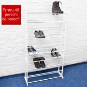 Suport pentru pantofi alb - 40 de perechi